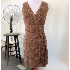 Vintage City DKNY 90's Brown Wrap Dress